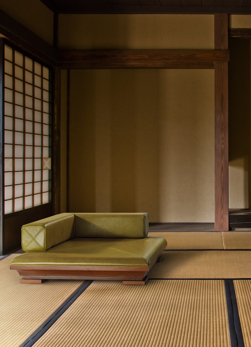 Nouvel Poltroncina Pelle Chair Japanese Espace Tatami In 5jARLq34