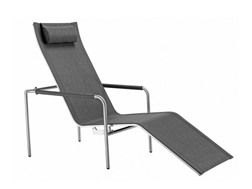 Recliner deck chair with armrests JARDIN | Deck chair by solpuri