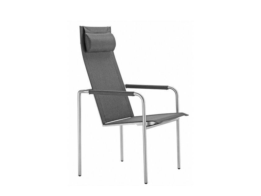 Recliner high-back chair with armrests JARDIN | High-back chair by solpuri