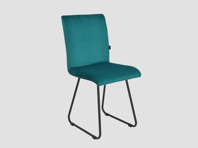 Sled base upholstered fabric chair JASMINE by Gie El Home
