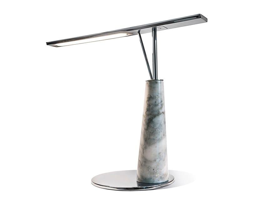Lampe de bureau led en marbre jasper by visionnaire design fabio bonfà