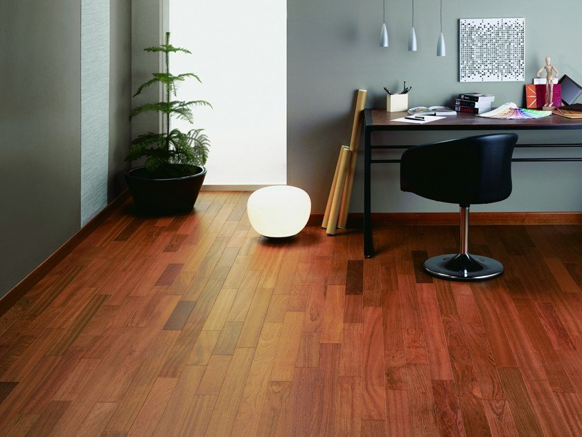 Engineered wood floor JATOBA SATIN DIVA 90 by PANAGET