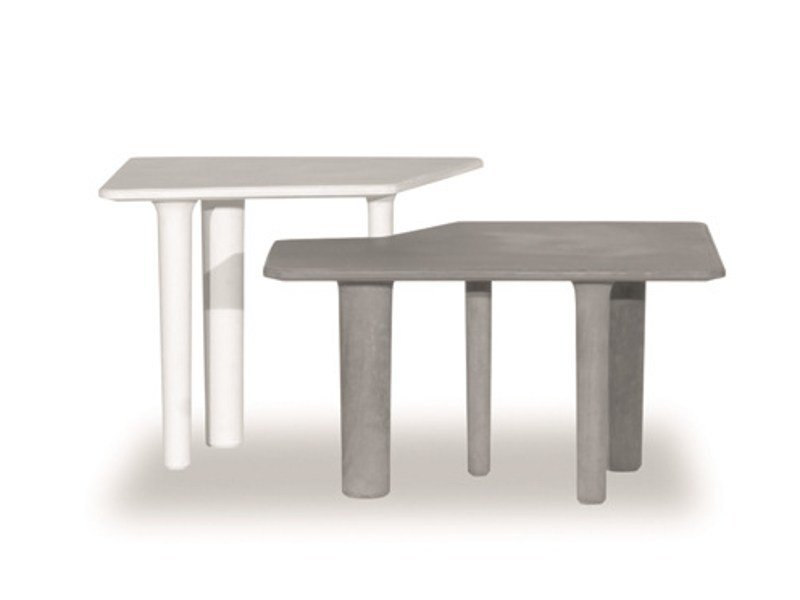 Cement garden side table JAVA by BAXTER