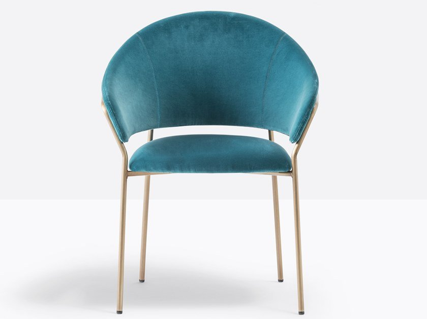 Upholstered fabric chair with armrests JAZZ 3716 by Pedrali