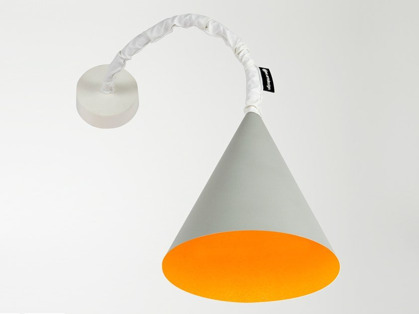 Wall lamp with swing arm JAZZ A CEMENTO by In-es.artdesign