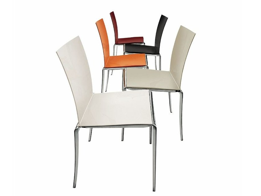 Stackable aluminium chair JAZZ by ALIVAR