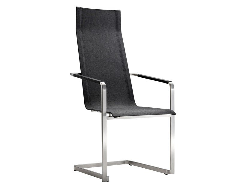 Sedia a sbalzo da giardino con schienale alto jazz sedia solpuri