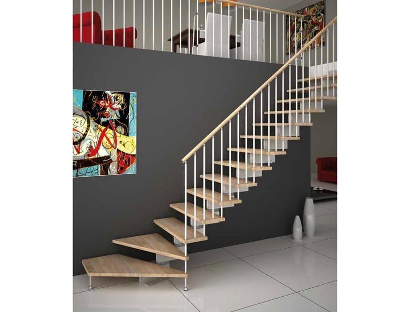 Modular beech Open staircase JAZZ FX by MOBIROLO