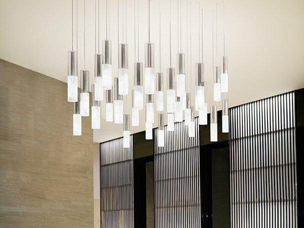 Satin glass pendant lamp JAZZ | Pendant lamp by PANZERI