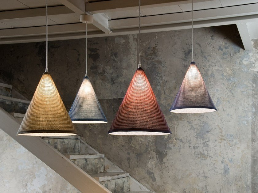 Wool pendant lamp JAZZ STRIPE by In-es.artdesign