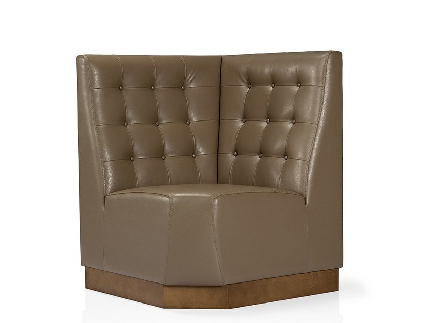 Tufted sectional high-back sofa