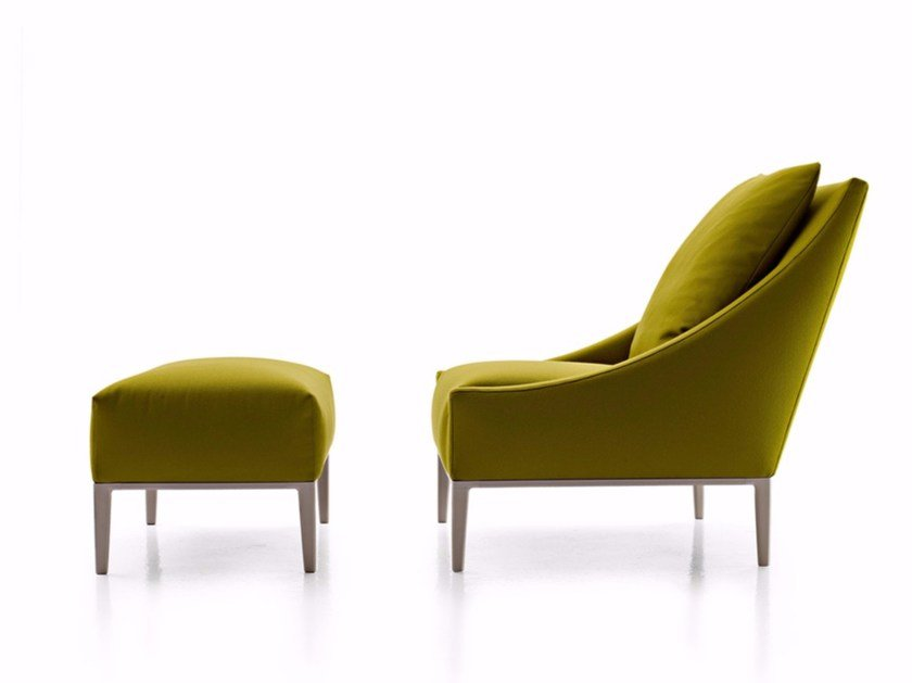 Fabric armchair with footstool JEAN | Armchair with footstool by B&B Italia Project