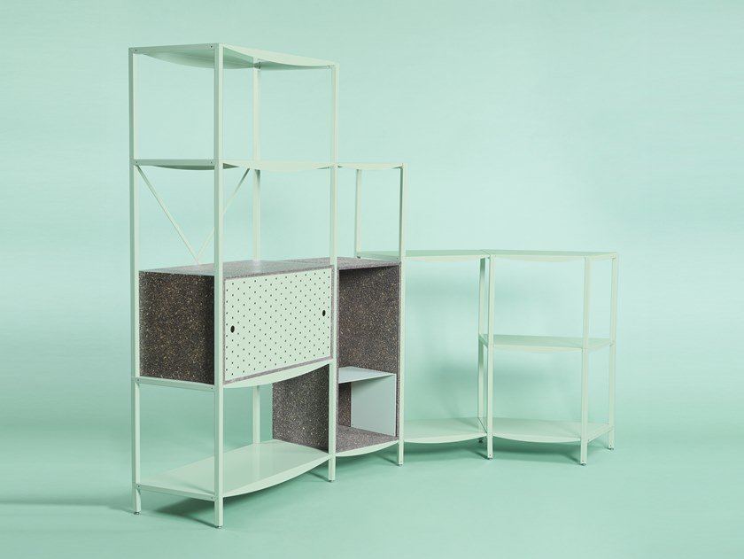 Sectional metal shelving unit JEAN | Shelving unit by Giacopini