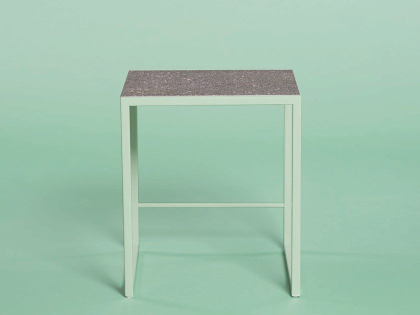 Low metal stool with footrest JEAN | Stool by Giacopini