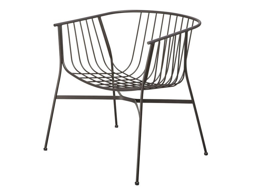 Steel easy chair with armrests JEANETTE | Easy chair by SP01