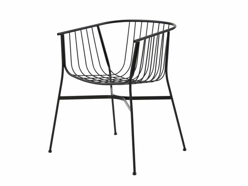 Powder coated steel garden chair JEANETTE by SP01