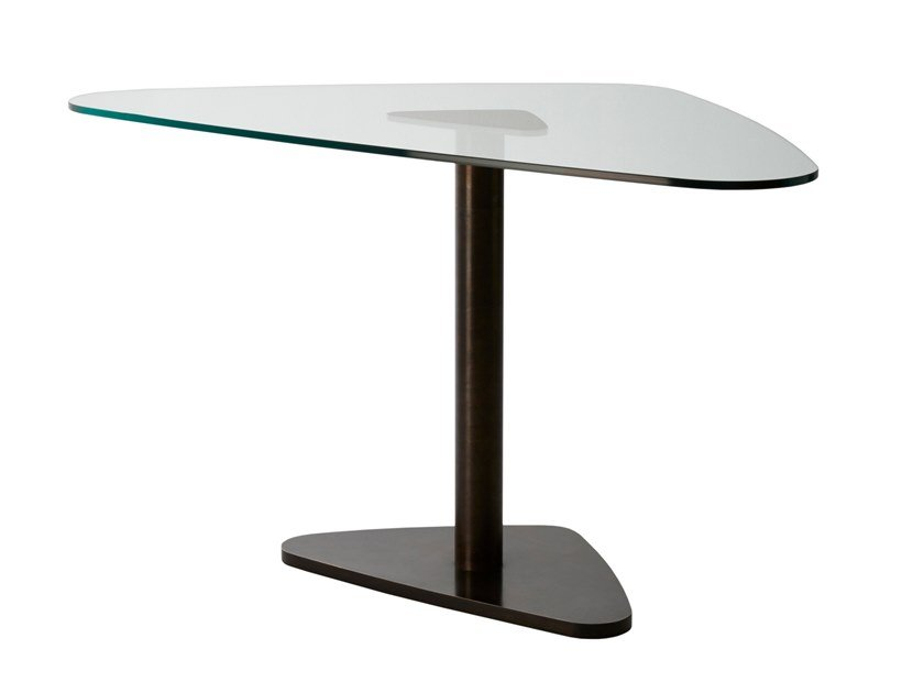 Glass table JEFF | Pivot table by Douglas Design Studio