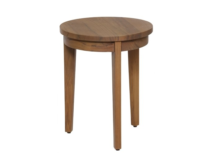Round solid wood side table JEJU | Side table by WARISAN