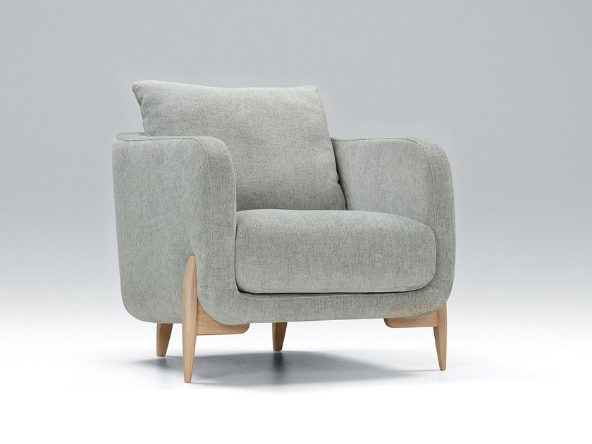 Upholstered fabric armchair with armrests JENNY | Armchair by Sits