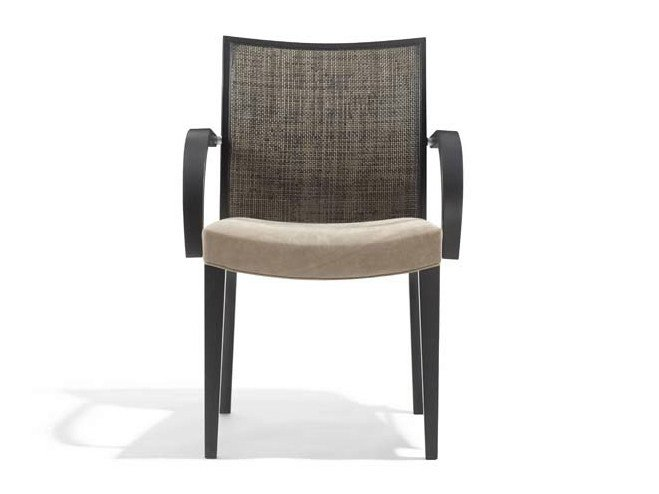 Upholstered chair with armrests JENNY | Chair with armrests by Potocco