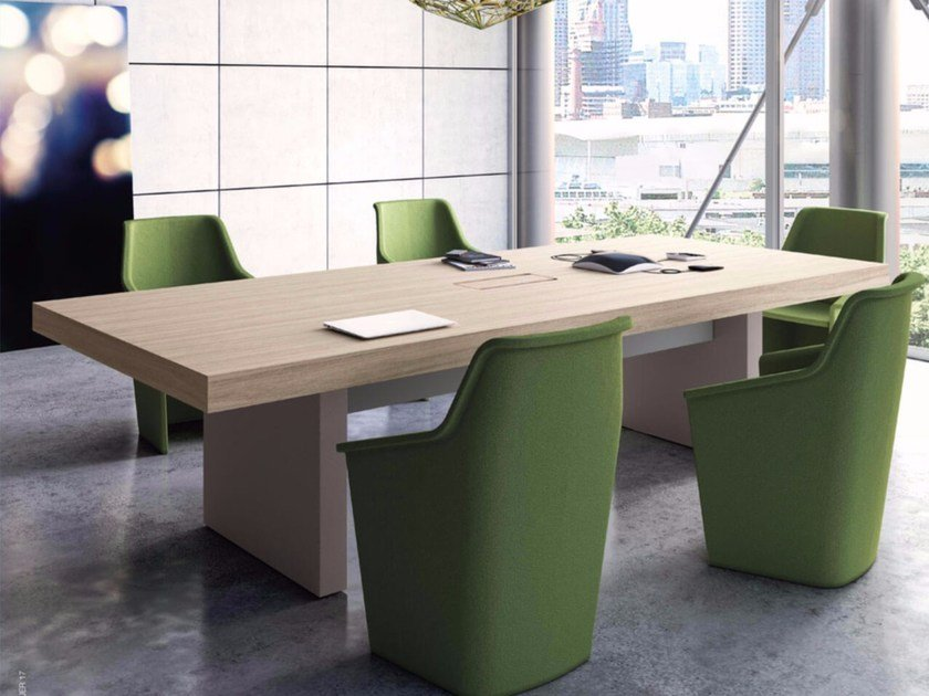 Rectangular meeting table JERA | Meeting table by Las Mobili