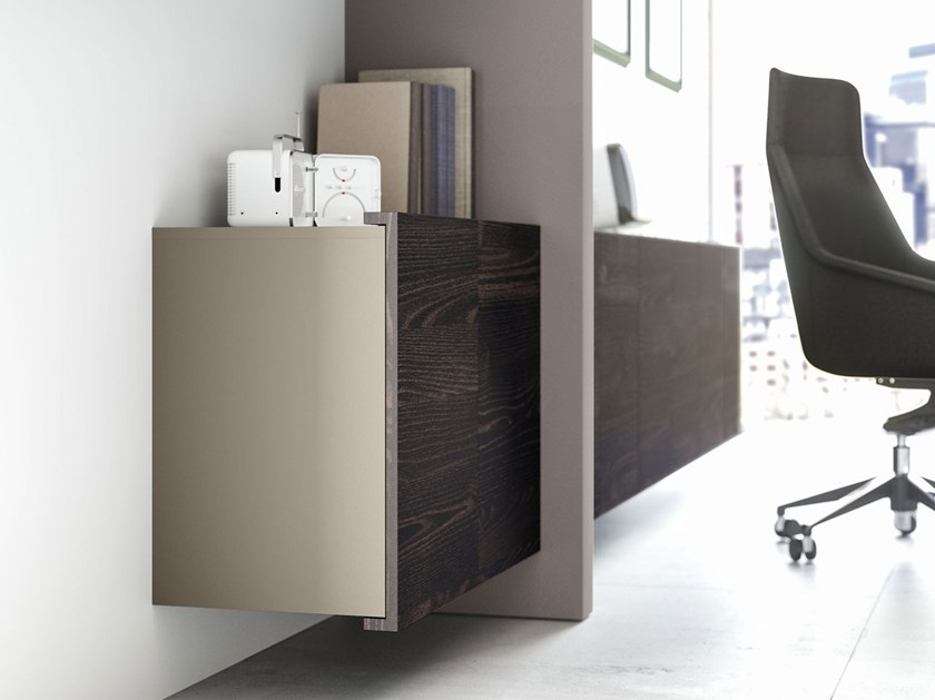 Low office storage unit with hinged doors JERA | Office storage unit with hinged doors by Las Mobili