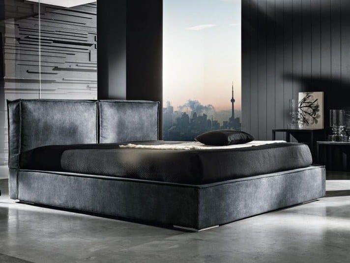 Fabric storage bed JERARD TRIPLEX by Lamantin