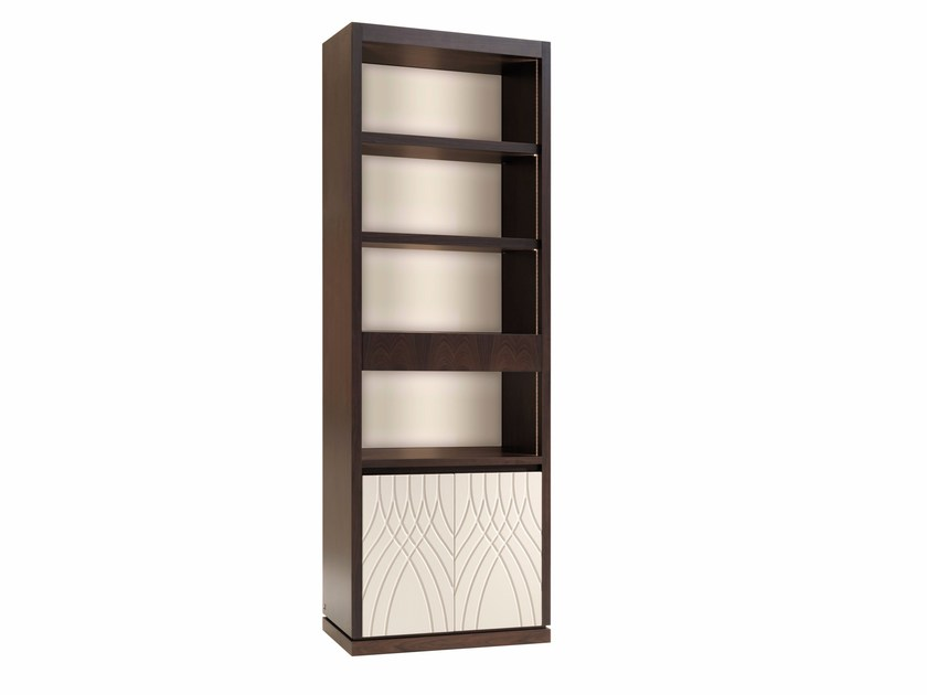 Open freestanding bookcase with drawers JERSEY | Bookcase by Smania