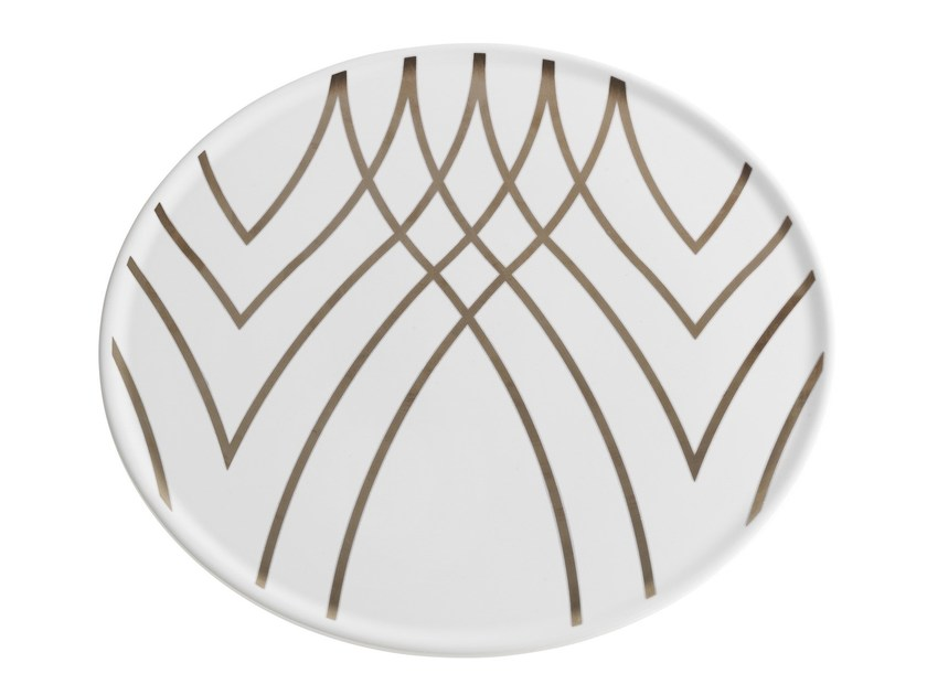 Ceramic dinner plate JERSEY | Plate by Smania