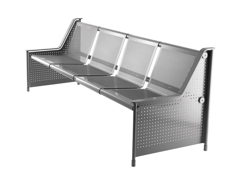 Metal bench seating with back JETT by rosconi