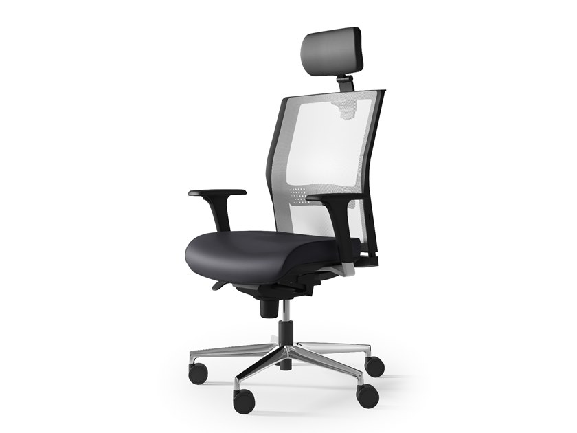 Task chair with 5-Spoke base with armrests JEX by Arte & D