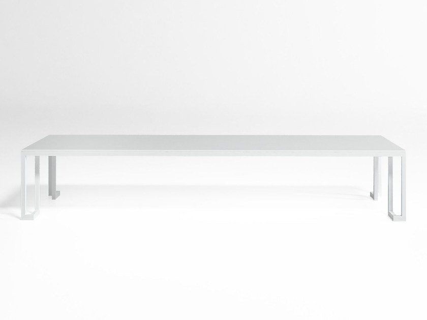Rectangular aluminium garden side table JIAN | Rectangular coffee table by GANDIA BLASCO