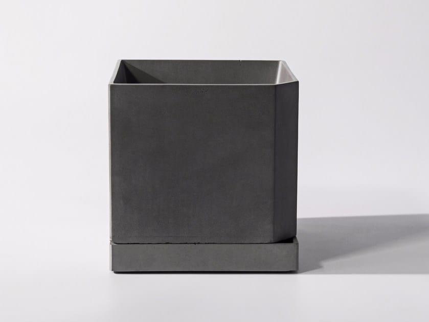 Concrete plant pot JIAO by Bentu Design