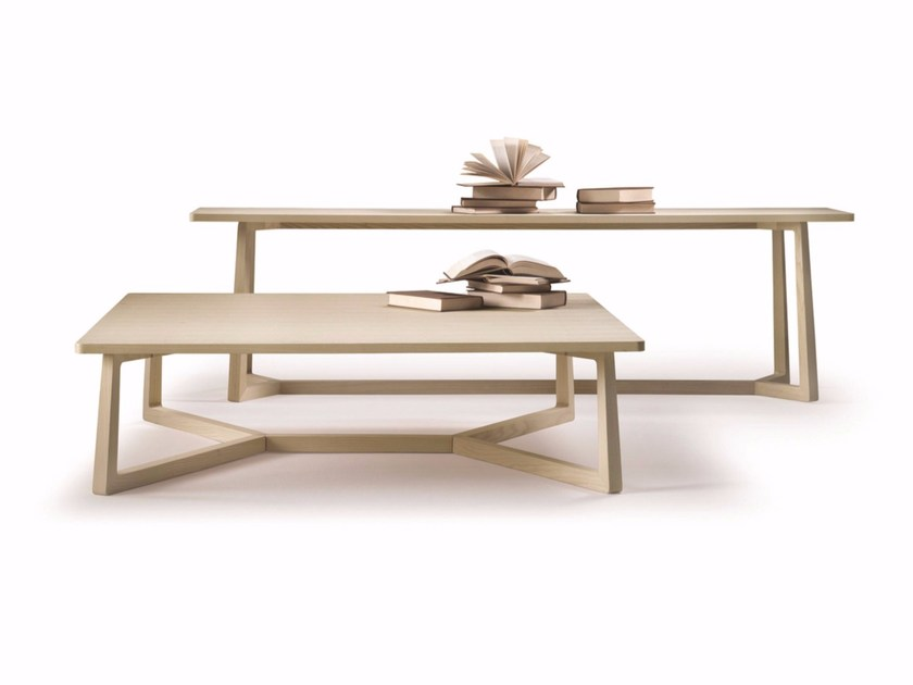 Rectangular solid wood coffee table JIFF | Rectangular coffee table by FLEXFORM