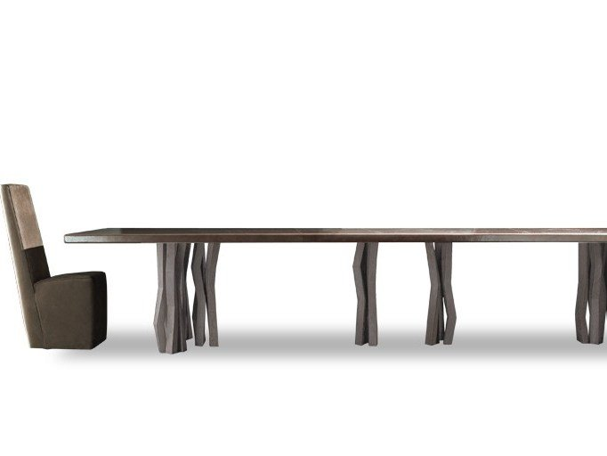 Rectangular leather table JIL by BAXTER