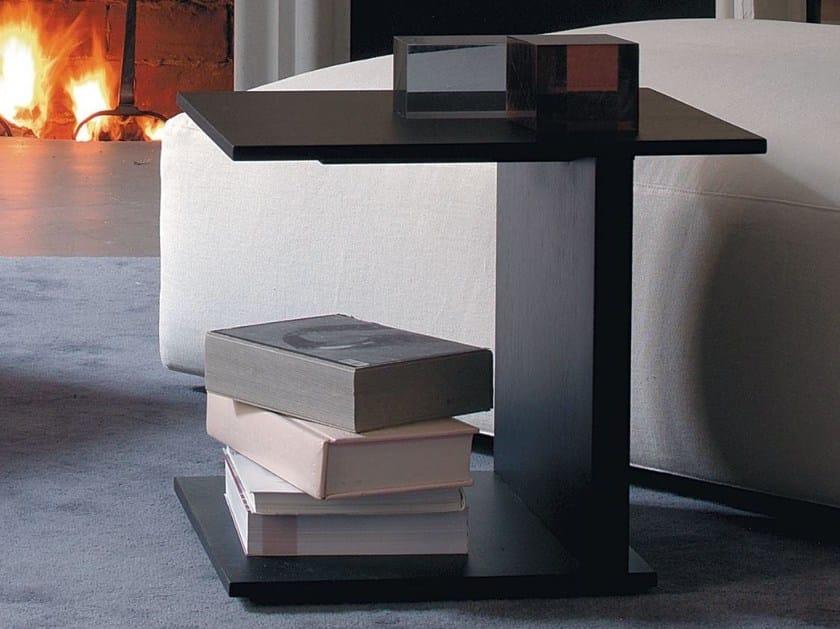 Rectangular wood veneer coffee table JIM by Verzelloni