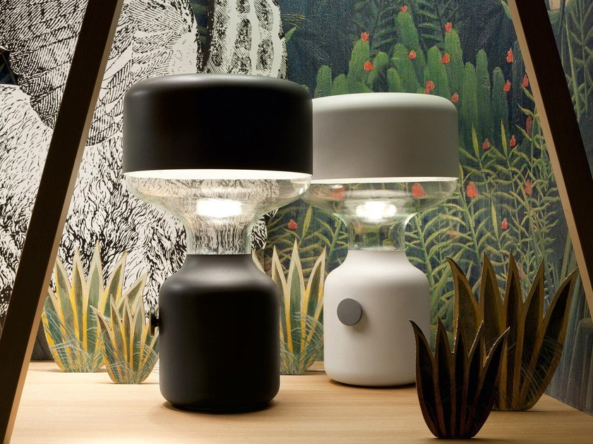 Indirect Light Halogen Metal Table Lamp Jinn Small By Vertigo Bird Design Mathias Hahn