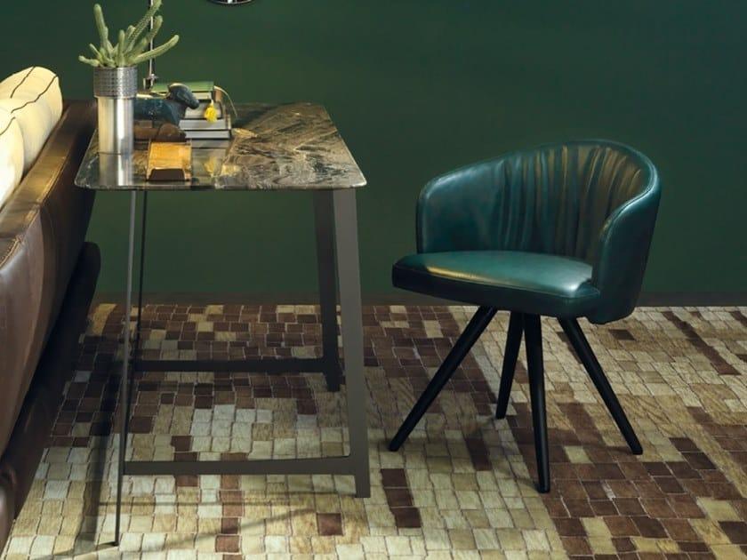 Upholstered leather chair JOE by Borzalino