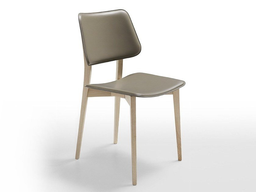 Upholstered wooden restaurant chair JOE L CU | Restaurant chair by Midj