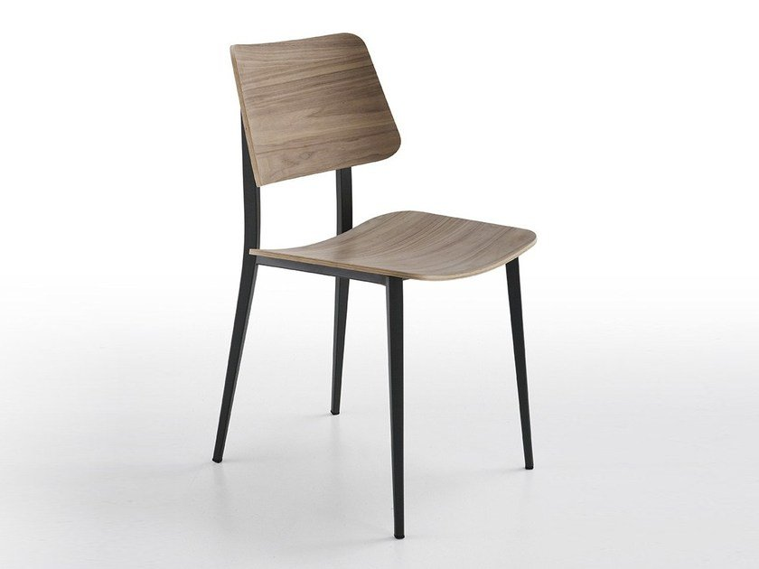 Wooden restaurant chair JOE M-LG | Restaurant chair by Midj