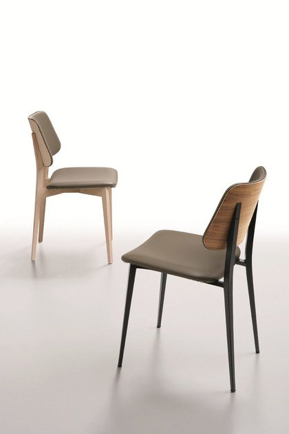 Contemporary style metal restaurant chair JOE S M-TS | Chair by Midj