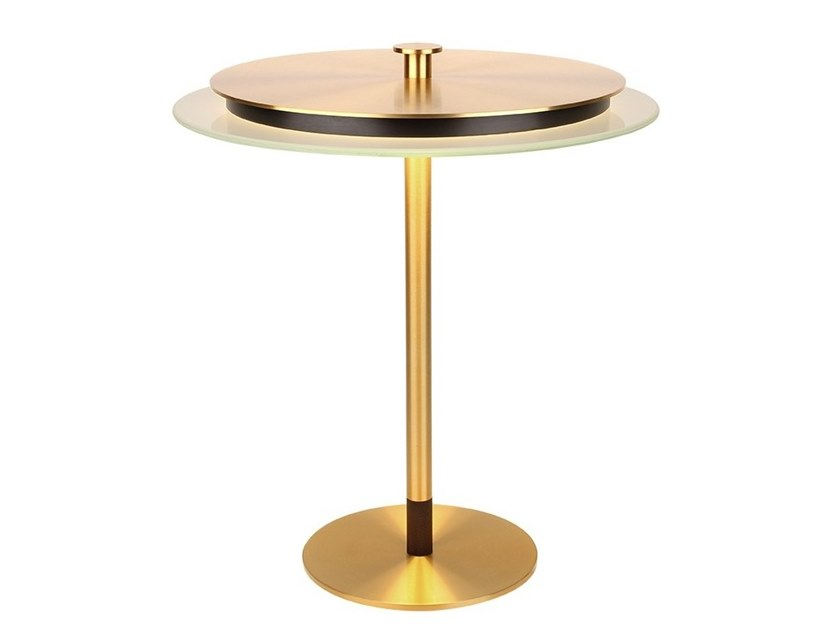 Brass table lamp with fixed arm JOHNSON/TL by GAU Lighting