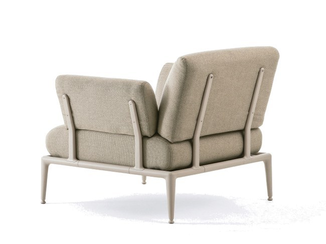 Upholstered fabric armchair JOINT | Armchair by FAST