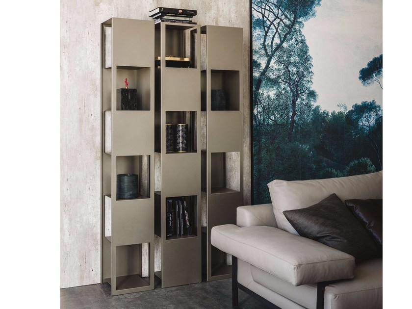 Powder coated steel bookcase JOKER by Cattelan Italia