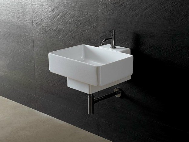 Rectangular ceramic washbasin JOKER RECTANGULAR by Alice Ceramica