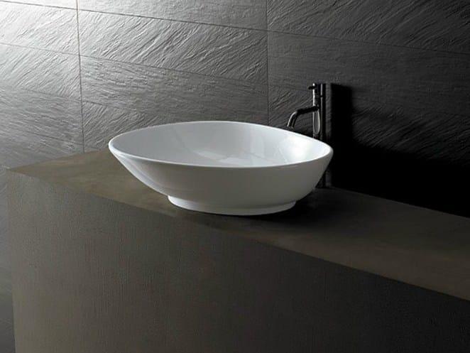 Ceramic washbasin JOKER SPOON by Alice Ceramica