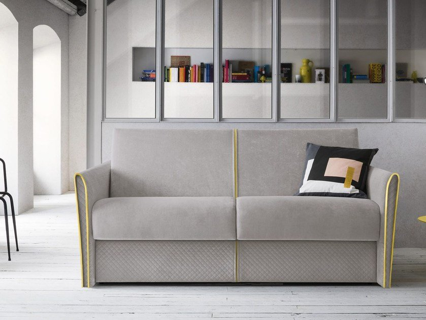 Velvet sofa bed with removable cover JOLIE by Felis