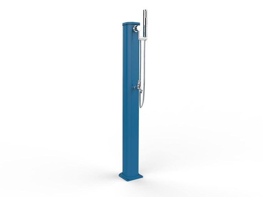 Portable aluminium outdoor shower JOLLY GO 180 /185 by ARKEMA DESIGN