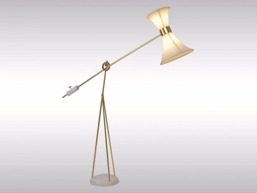 Brass floor lamp JOLLY JUMPER by Woka Lamps Vienna