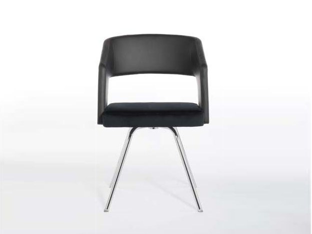 Swivel upholstered chair with armrests JOLLY | Swivel chair by Potocco